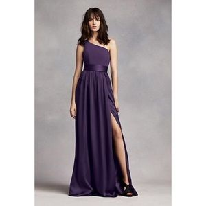 Vera Wang White one shoulder gown purple - 14